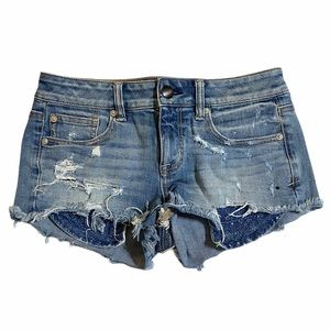 American Eagle Super Stretch Shortie Shorts Sz 4